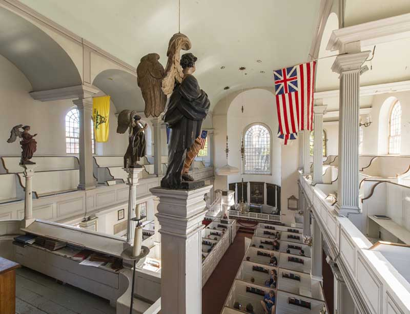 Statues in the old north church