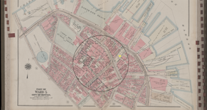 Vernon Street on old map