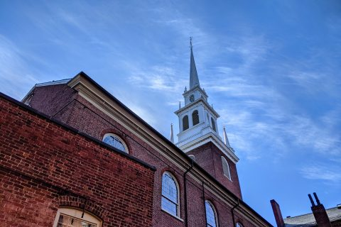 Dramatic photo of Old North Church.