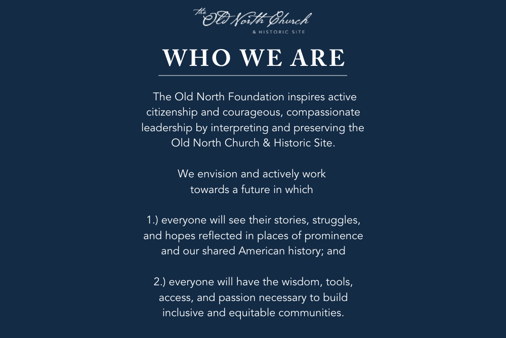 Who We Are - Old North Church & Historic Site