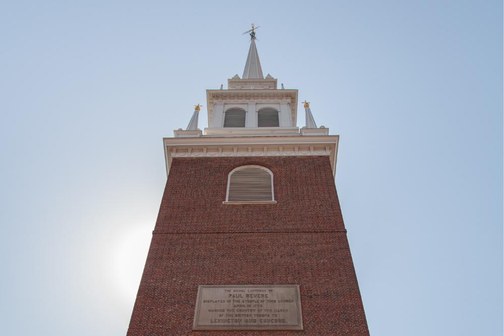 Old North Church's third steeple.